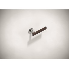 Stainless Steel Toilet Roll Holder with Wenge Finish