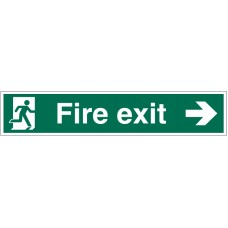 Large Fire Exit Sign Right Arrow