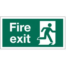 Small Running Man Fire Exit Sign RH