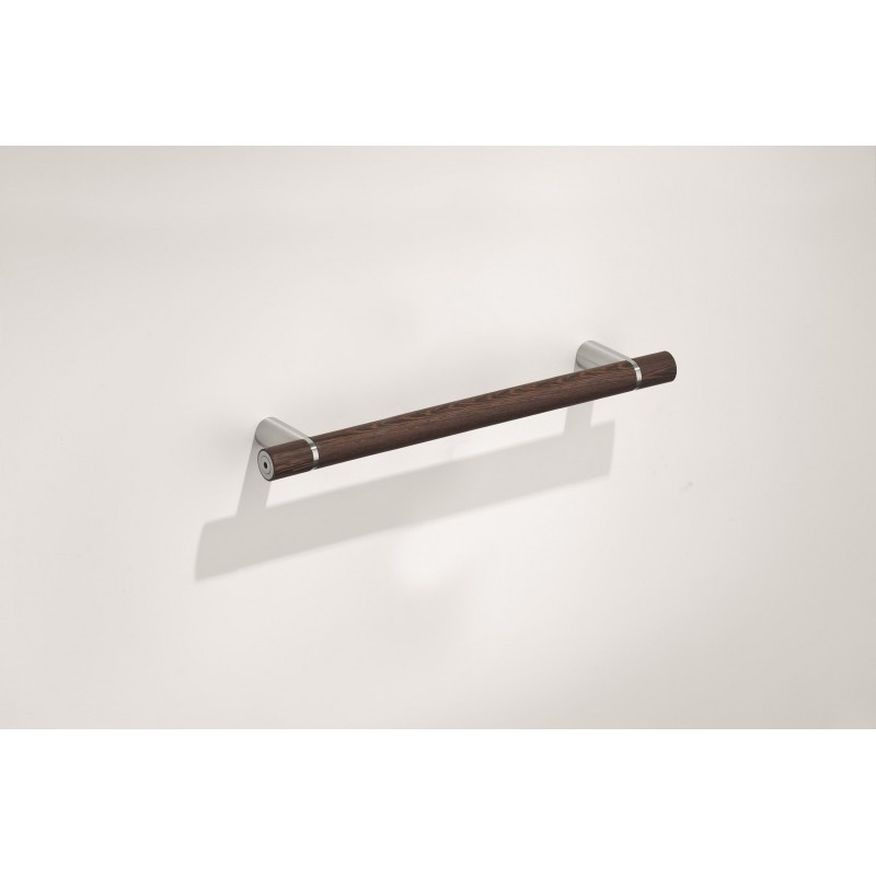 91001 - Stainless Steel Towel Rail with Wenge Finish