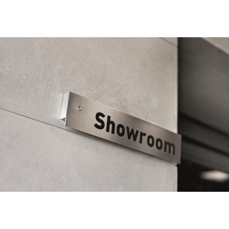 11648 - Stainless Steel Sign on Spacer