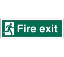 Running Man Fire Exit Sign