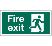 1213 - Small Running Man Fire Exit Sign RH
