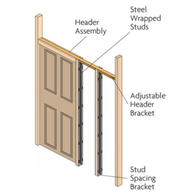 90108   Concealed Sliding Door Gear