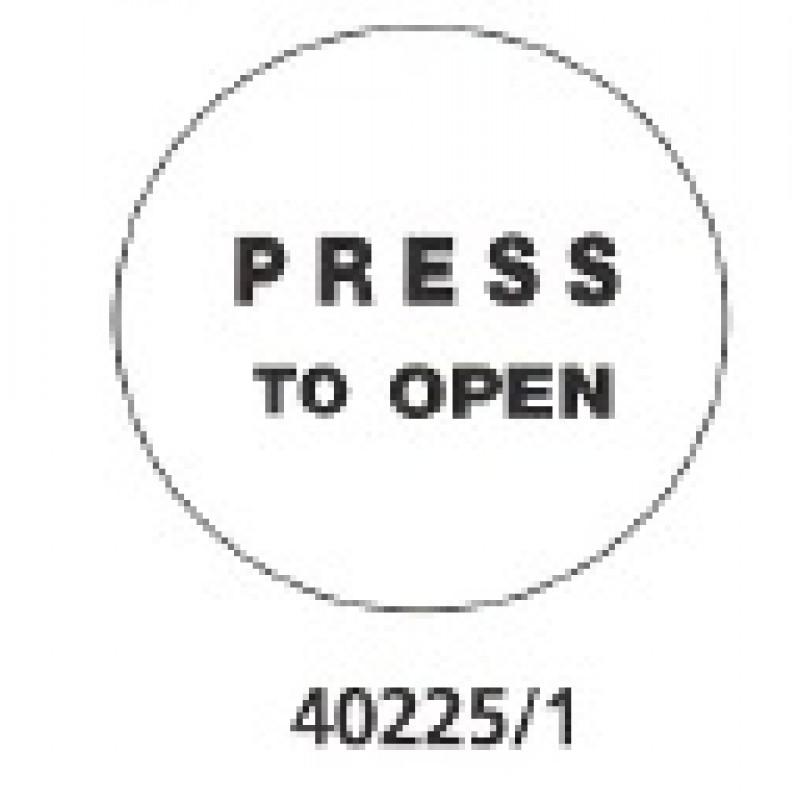 40225 - Stainless Steel Circular Push Pad