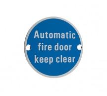 Automatic Fire Door Keep Clear SA